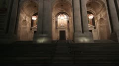 New York Public Library Pan Up Stock Footage