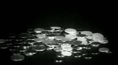 Coin Fall,group of RMB coins. Stock Footage