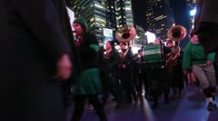 Occupy Wall Street March with Band and Chant Stock Footage