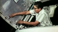 American Indian Aerospace Technician Circa 1965 (Vintage Film Footage) 1507 Stock Footage