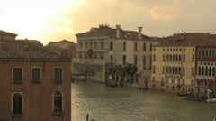 Venice Italy Water Taxi Stock Footage