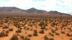 Mojave Desert Plain and Rocky Ridge 2 - stock footage