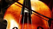 Stock Video Footage of Musician and Double Bass 21 playing wide low angle