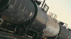 Train, oil tanker Stock Footage