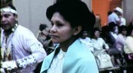 Native American Pow Wow Women Circa 1965 (Vintage Film Home Movie) 1516 Stock Footage