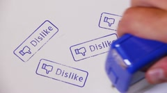 Dislike Stamps 2357 Stock Footage