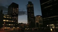 London Timelapse - tower 42 closer - dusk Stock Footage