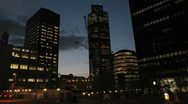 Stock Video Footage of London Timelapse - tower 42 closer - dusk