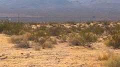 agricultural, from desert to irrigated fields pan reveal - stock footage