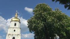 The Belltower of Saint Sophia Cathedral Kiev, Ukraine - stock footage