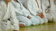Little karatekas Stock Footage