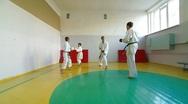 Martial Arts sport training Stock Footage