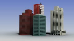 Growing and changing city with sky - stock footage