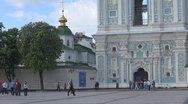 Stock Video Footage of The Belltower of Saint Sophia Cathedral Kiev, Ukraine