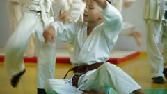 Karate class Stock Footage