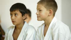 Karate students Stock Footage
