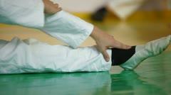 Karate kid training Stock Footage
