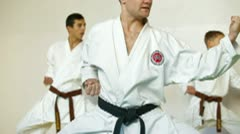 Karate Student Practicing - stock footage