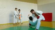 Training martial arts Stock Footage