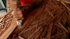 Tarot root is made by hand in Hawaii. Stock Footage
