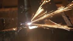 Plasma cutting steel plate Fast P HD 8463 - stock footage
