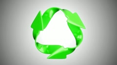 Recycling and environment eco concept. Alpha channel is included Stock Footage