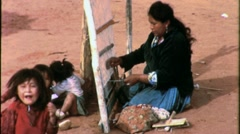 Sheep Ranch Family Navajo Indians Woman Children 1960s Vintage Film Footage 1526 Stock Footage