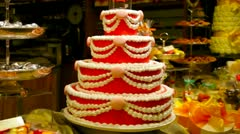 Big cake Stock Footage