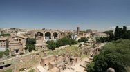 The ruins of the Roman Forum Stock Footage