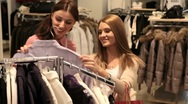 Stock Video Footage of Girls enjoying shopping