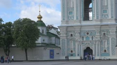 The Belltower of Saint Sophia Cathedral Kiev, Ukraine Stock Footage