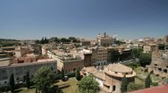 View of the Rome skyline Stock Footage