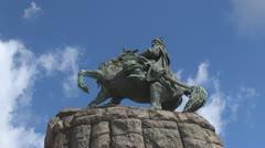 The monument to Bogdan Khmelnytsky, Kiev, Ukraine Stock Footage