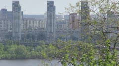 Aerial view of Kiev, Ukraine Stock Footage