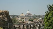 The dome of St Peter's Basilica in Rome, Italy Stock Footage