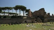 Ancient roman ruins in Rome, Italy Stock Footage