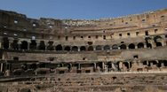 Inside the Colosseum in Rome, Italy Stock Footage