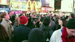 Occupy Wall Street Rally Singing Give Us a Job - stock footage