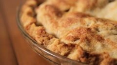 Apple Pie - Dolly Shot - Left to Right (CU) Stock Footage