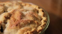 Pie Crust - Dolly Shot from Above Stock Footage