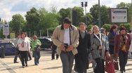 Stock Video Footage of People walking on street