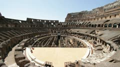 The ancient roman Colosseum in ruins Stock Footage