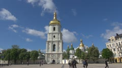 Timelapse of Saint Sophia Cathedral Kiev, Ukraine Stock Footage