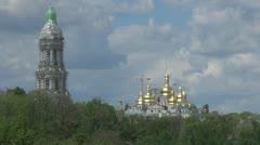 The Kiev Monastery of the Caves in Kiev, Ukraine Stock Footage