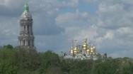 Stock Video Footage of The Kiev Monastery of the Caves in Kiev, Ukraine