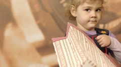 A child with an envelope2 Stock Footage