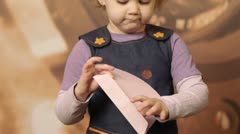A child with an envelope1 Stock Footage