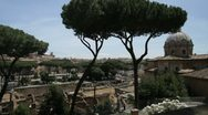 Rome's famous ancient ruins Stock Footage