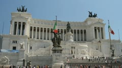 The beautiful Monumento Nazionale a Vittorio Emanuele II in Rome, Italy Stock Footage