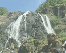 Goa / Cochin Dudhsagar Falls Stock Footage